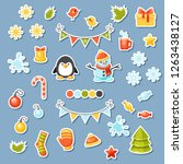 vector set of christmas... | Shutterstock .eps vector #1263438127