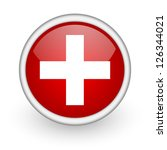 emergency red circle web icon... | Shutterstock . vector #126344021