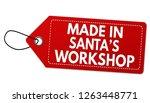 made in santa's workshop label... | Shutterstock .eps vector #1263448771