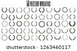 set of 50 vector laurel wreaths ...   Shutterstock .eps vector #1263460117