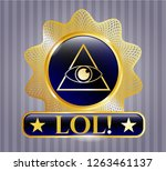 gold shiny emblem with...   Shutterstock .eps vector #1263461137