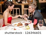 happy young attractive couple... | Shutterstock . vector #126346601