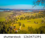 panoramic view of lakes from... | Shutterstock . vector #1263471391