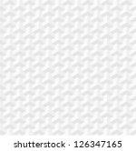 White geometric texture. Vector seamless background | Shutterstock vector #126347165