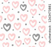 repeated round dots and hearts... | Shutterstock .eps vector #1263473881