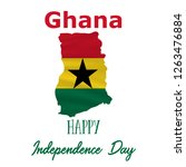 6 march  ghana independence day ... | Shutterstock .eps vector #1263476884
