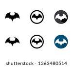 bat logo template vector icon | Shutterstock .eps vector #1263480514