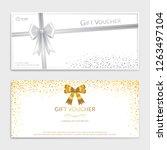 gold glitter gift voucher ... | Shutterstock .eps vector #1263497104