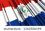 abstract flag of paraguay. 3d... | Shutterstock . vector #1263506194