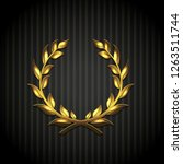 golden laurel wreath ... | Shutterstock . vector #1263511744