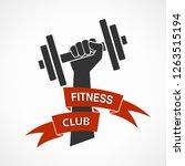 fitness club symbol ... | Shutterstock . vector #1263515194