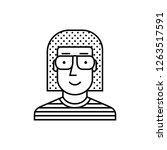 sunglasses man avatar icon | Shutterstock .eps vector #1263517591