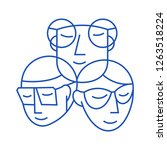 sunglasses people icon abstract ... | Shutterstock .eps vector #1263518224