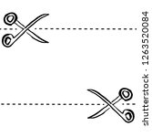 grunge ink hand drawn scissors... | Shutterstock .eps vector #1263520084