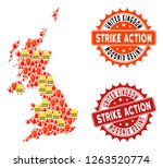 strike action collage of...   Shutterstock .eps vector #1263520774