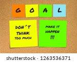list of handwritten new years... | Shutterstock . vector #1263536371
