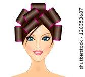 vector illustration of woman... | Shutterstock .eps vector #126353687