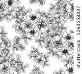 flower print. elegance seamless ...   Shutterstock .eps vector #1263558337