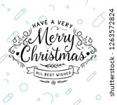 merry christmas. typography.... | Shutterstock .eps vector #1263572824
