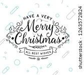 merry christmas. typography....   Shutterstock .eps vector #1263572824