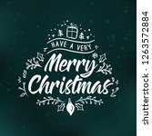 merry christmas. typography.... | Shutterstock .eps vector #1263572884