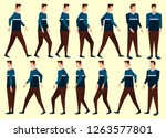 collection set of man walking.... | Shutterstock .eps vector #1263577801