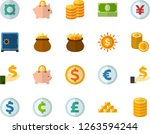color flat icon set  ... | Shutterstock .eps vector #1263594244