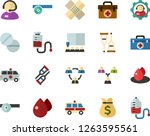 color flat icon set   telephone ... | Shutterstock .eps vector #1263595561