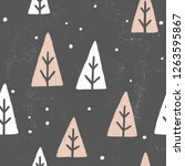 cute abstract christmas trees.... | Shutterstock . vector #1263595867