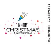 merry christmas and happy new... | Shutterstock .eps vector #1263596581