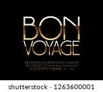 vector luxury emblem bon voyage ...   Shutterstock .eps vector #1263600001