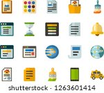 color flat icon set   document...