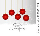 merry christmas card with...   Shutterstock .eps vector #1263601624