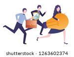 group of business with clock... | Shutterstock .eps vector #1263602374