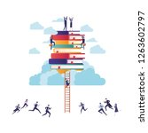 group of business with books...   Shutterstock .eps vector #1263602797