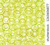 seamless pattern circles green... | Shutterstock . vector #1263606877