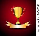 realistic vector trophy with... | Shutterstock .eps vector #126360941
