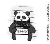 panda criminal. police banner....   Shutterstock .eps vector #1263620017