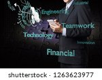 businessman use wireless... | Shutterstock . vector #1263623977
