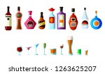 ollection of different... | Shutterstock .eps vector #1263625207