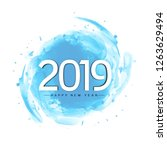abstract stylish  new year 2019 ...   Shutterstock .eps vector #1263629494