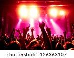 cheering crowd in front of... | Shutterstock . vector #126363107