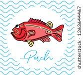 fish for food. vector... | Shutterstock .eps vector #1263644467