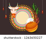 south indian tamil festival... | Shutterstock .eps vector #1263650227