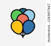 baloon concept line icon....
