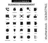business management glyph...   Shutterstock .eps vector #1263657961
