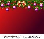 christmas tree balls background | Shutterstock .eps vector #1263658237