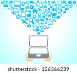 social network background of... | Shutterstock .eps vector #126366239