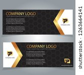 set of black gold vector design ... | Shutterstock .eps vector #1263664141