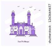 taza pir mosque landmark purple ...   Shutterstock .eps vector #1263664657